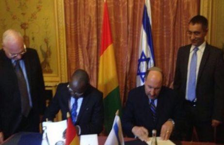 Signature de l'accord d'entente entre la Guinee et Israel